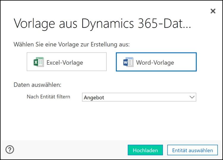 So erstellen Sie Word-Vorlagen in Dynamics 365.