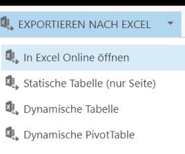 Exportieren von Datensätzen nach Excel