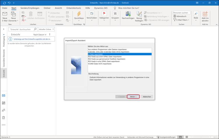 So exportieren Sie Ihre Kontakte aus Microsoft Outlook