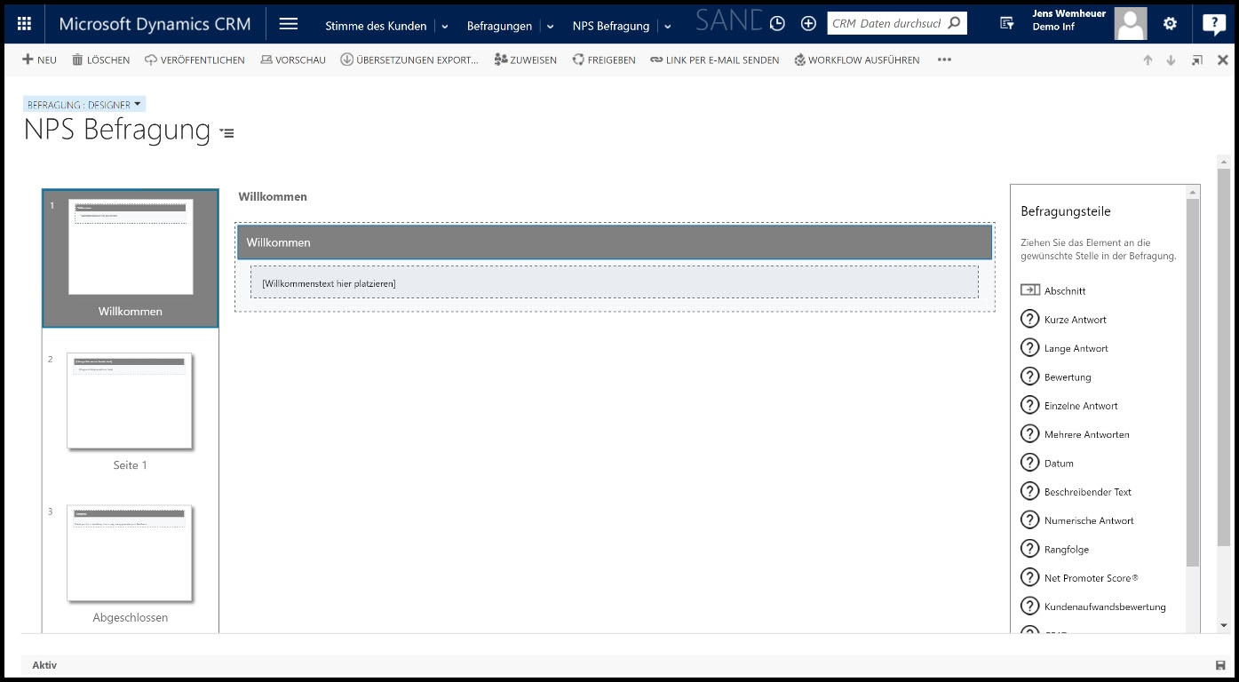 Microsoft Dynamics 365 Design Modus