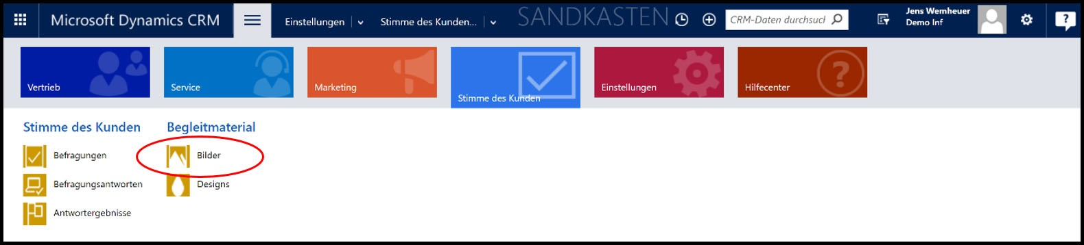 Microsoft Dynamics 365 Bilderkonfiguration