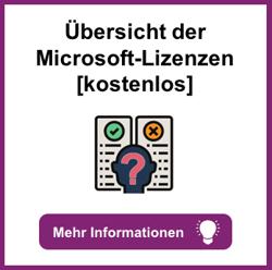 Microsoft Lizenzen Überblick