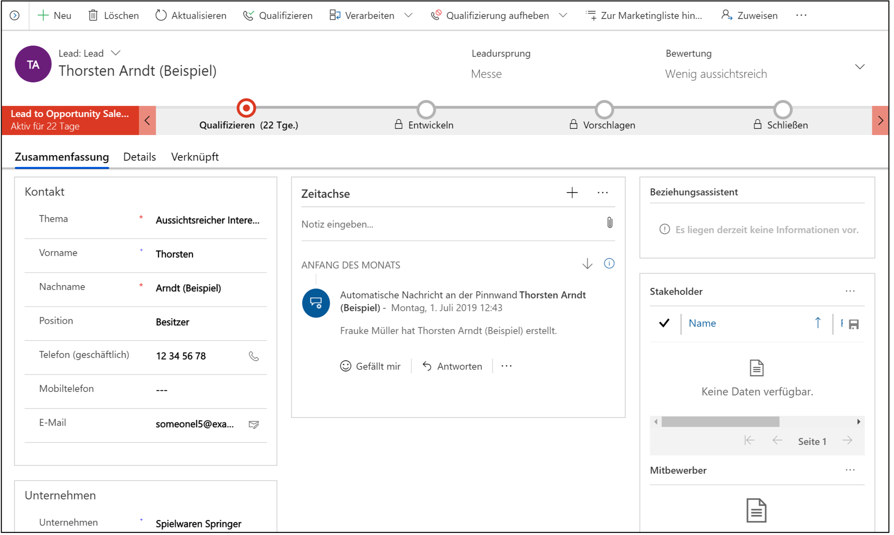 Microsoft Dynamics 365 for Sales: Das CRM-System für die digitale Transformation.