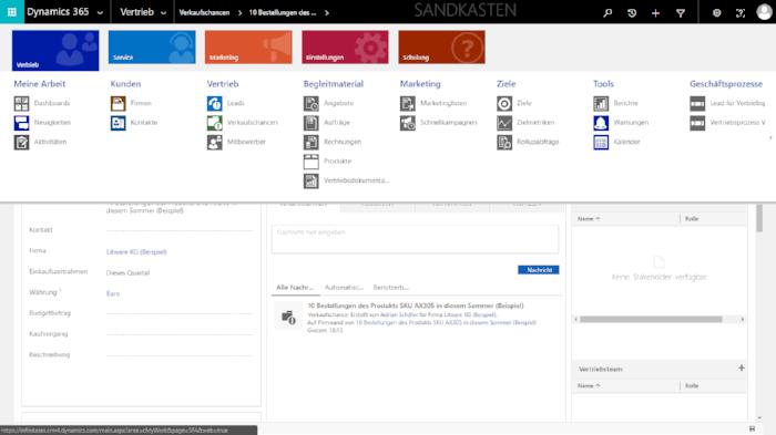 Microsoft_Dynamics_365_Menüansicht