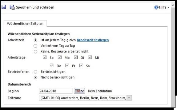 Ressourcenplanung mit dem CRM-System Microsoft Dynamics 365
