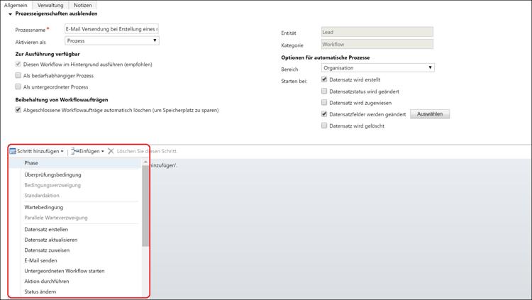 Wie Sie Workflows im CRM-System Microsoft Dynamics 365 nutzen können.