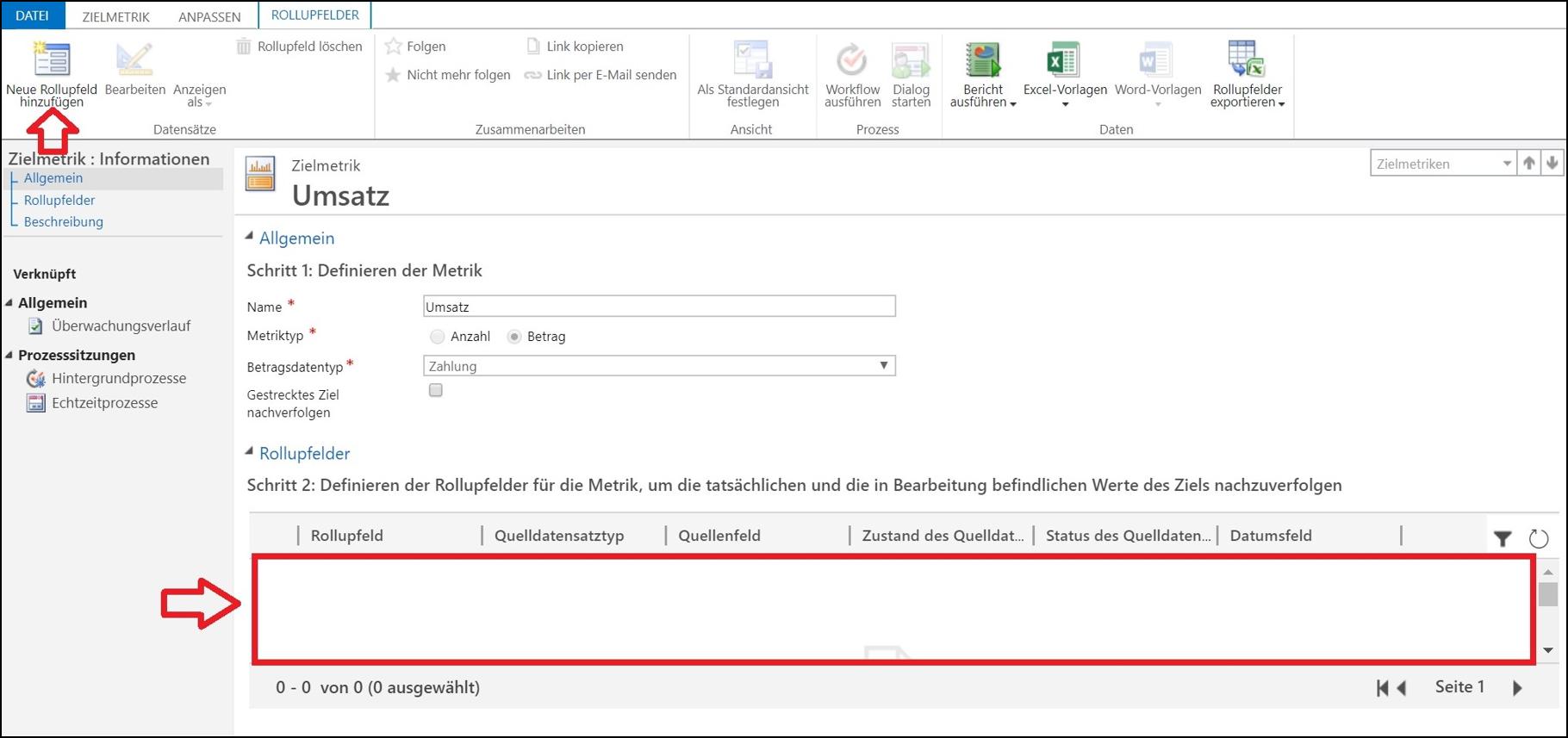 Zieldefinition und -kontrolle mit Microsoft Dynamics CRM.